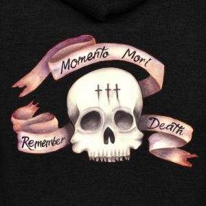 Momento Mori - Remember Death - Unisex Fleece Zip Hoodie by American Apparel