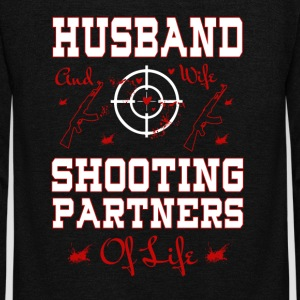 Husband And Wife Shooting Partners Of Life T Shirt - Unisex Fleece Zip Hoodie by American Apparel