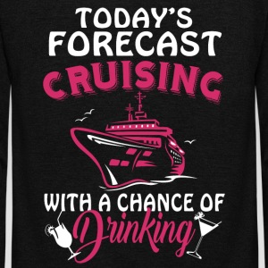 Today's Forecast Cruising T Shirt - Unisex Fleece Zip Hoodie by American Apparel