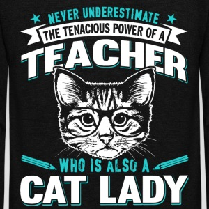 The Tenacious Power Of A Teacher T Shirt - Unisex Fleece Zip Hoodie by American Apparel