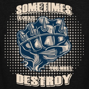 Sometimes to create you must destroy evil fist - Unisex Fleece Zip Hoodie by American Apparel