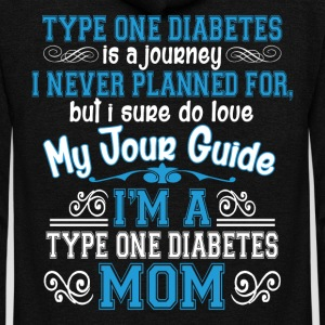I'm A Type One Diabetes Mom T Shirt - Unisex Fleece Zip Hoodie by American Apparel