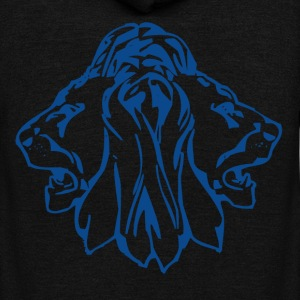 Double head lion - Unisex Fleece Zip Hoodie by American Apparel