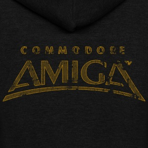 Commodore Amiga Vintage T Shirt - Unisex Fleece Zip Hoodie by American Apparel