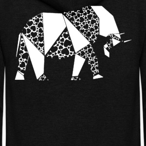 Love Elephants T shirt - Unisex Fleece Zip Hoodie by American Apparel
