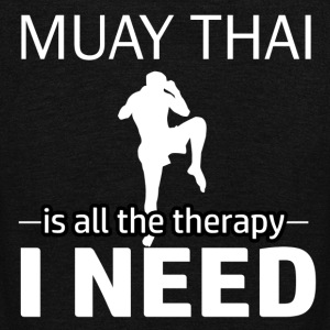 Muay Thai is my therapy - Unisex Fleece Zip Hoodie by American Apparel
