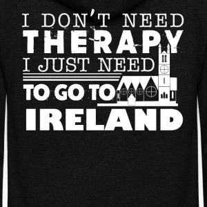 Ireland Therapy Shirt - Unisex Fleece Zip Hoodie by American Apparel