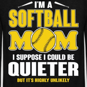 Softball Mom I Suppose I Could Be Quieter T Shirt - Unisex Fleece Zip Hoodie by American Apparel