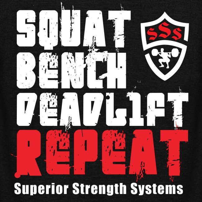 Squat Bench Deadlift Repeat with logo