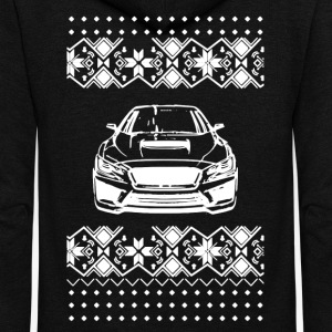 Subaru Christmas Shirt - Unisex Fleece Zip Hoodie by American Apparel