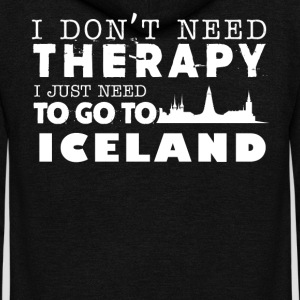 Iceland Therapy Shirt - Unisex Fleece Zip Hoodie by American Apparel