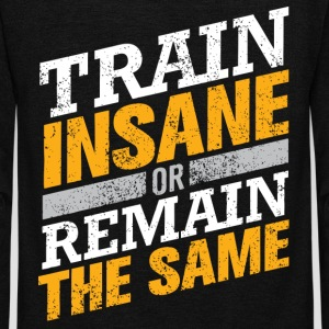 Train insane - Unisex Fleece Zip Hoodie by American Apparel