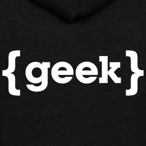 geek T Shirt - Unisex Fleece Zip Hoodie by American Apparel