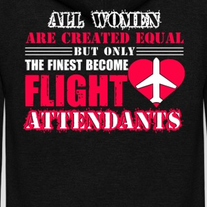 Finest Women Become Flight Attendants Shirtflight - Unisex Fleece Zip Hoodie by American Apparel