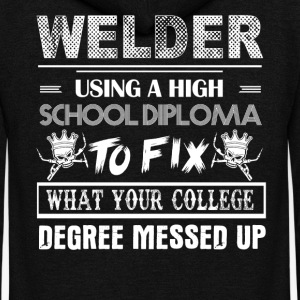 Welder Tshirt - Unisex Fleece Zip Hoodie by American Apparel