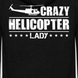 Crazy Helicopter Lady Shirt - Unisex Fleece Zip Hoodie by American Apparel