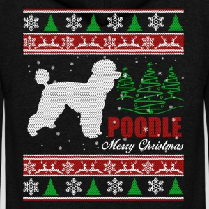 Poodle Shirt - Poodle Christmas Shirt - Unisex Fleece Zip Hoodie by American Apparel