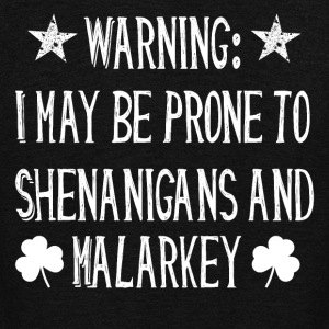 shenanigans and malarkey st. patrich day irish - Unisex Fleece Zip Hoodie by American Apparel