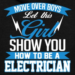 Electrician Shirt - Unisex Fleece Zip Hoodie by American Apparel