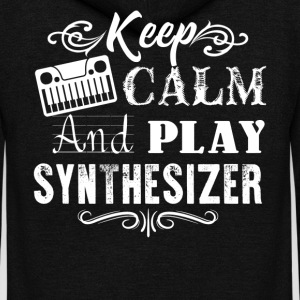 Keep Calm And Play Synthesizer Shirt - Unisex Fleece Zip Hoodie by American Apparel