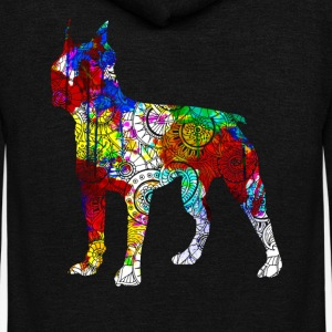 Boston Terrier Shirts - Unisex Fleece Zip Hoodie by American Apparel