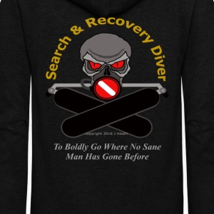 Search & Recovery Diver - To Boldly Go - Unisex Fleece Zip Hoodie by American Apparel