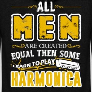 Some Men Learn To Play Harmonica Shirt - Unisex Fleece Zip Hoodie by American Apparel