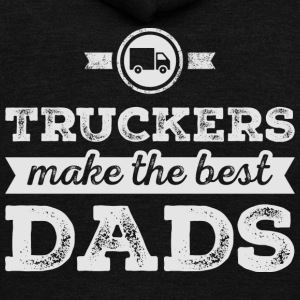 Truckers Make The Best Dads T Shirt - Unisex Fleece Zip Hoodie by American Apparel
