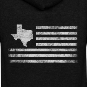 Texas State United States Flag Vintage USA - Unisex Fleece Zip Hoodie by American Apparel
