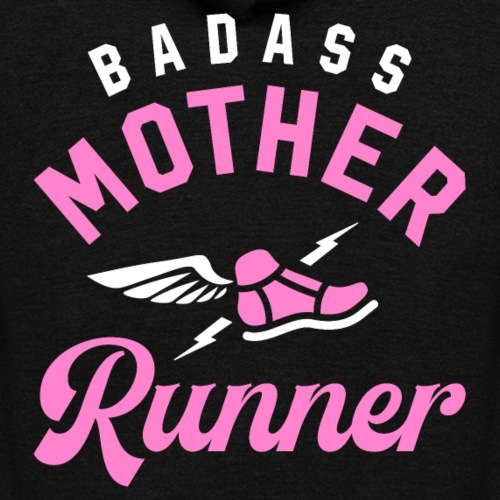 Badass Mother Runner - Unisex Fleece Zip Hoodie