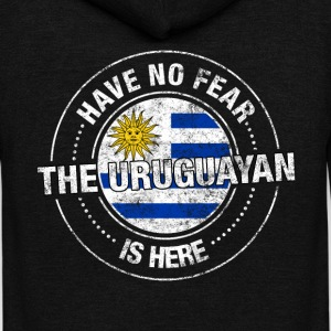 Have No Fear The Uruguayan Is Here - Unisex Fleece Zip Hoodie by American Apparel