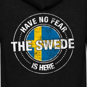 Have No Fear The Swede Is Here - Unisex Fleece Zip Hoodie by American Apparel