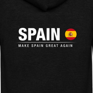 Make Spain Great Again - Unisex Fleece Zip Hoodie by American Apparel