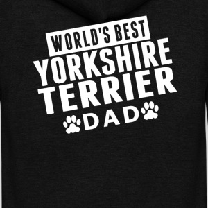 World's Best Yorkshire Terrier Dad - Unisex Fleece Zip Hoodie by American Apparel