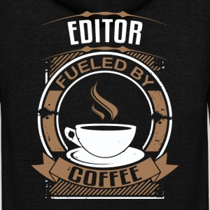Editor Fueled By Coffee - Unisex Fleece Zip Hoodie by American Apparel