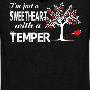 I'm Just A Sweetheart With A Temper T Shirt - Unisex Fleece Zip Hoodie by American Apparel