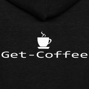 Get Coffee T Shirt - Unisex Fleece Zip Hoodie by American Apparel