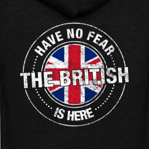 Have No Fear The British Is Here - Unisex Fleece Zip Hoodie by American Apparel