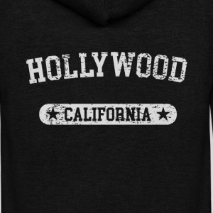 Hollywood California - Unisex Fleece Zip Hoodie by American Apparel