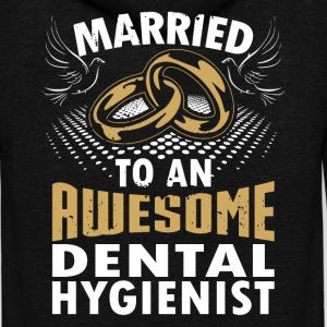 Married To An Awesome Dental Hygienist - Unisex Fleece Zip Hoodie by American Apparel