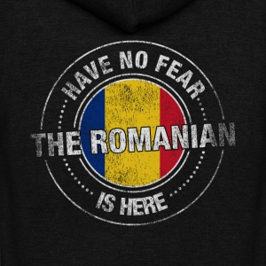 Have No Fear The Romanian Is Here Shirt - Unisex Fleece Zip Hoodie by American Apparel