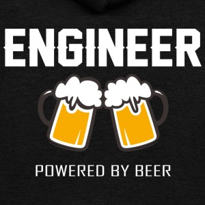 Engineer powered by beer T Shirt - Unisex Fleece Zip Hoodie by American Apparel