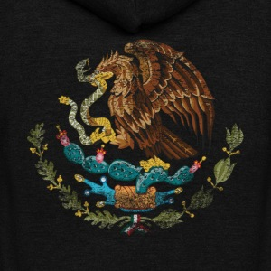 Mexican Coat of Arms Mexico Symbol - Unisex Fleece Zip Hoodie by American Apparel