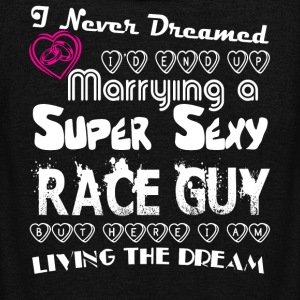 Marrying A Super Sexy Race Guy T Shirt - Unisex Fleece Zip Hoodie by American Apparel
