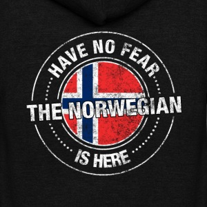 Have No Fear The Norwegian Is Here Shirt - Unisex Fleece Zip Hoodie by American Apparel
