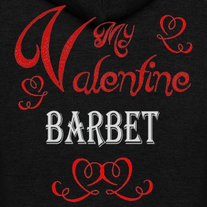 A romantic Valentine with my Barbet - Unisex Fleece Zip Hoodie by American Apparel