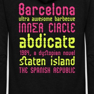 Barcelona ultra awesome barbecue - Unisex Fleece Zip Hoodie by American Apparel