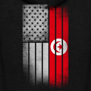 Tunisian American Flag - Unisex Fleece Zip Hoodie by American Apparel