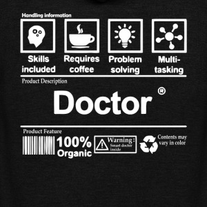 Awesome Doctor T Shirt - Unisex Fleece Zip Hoodie by American Apparel