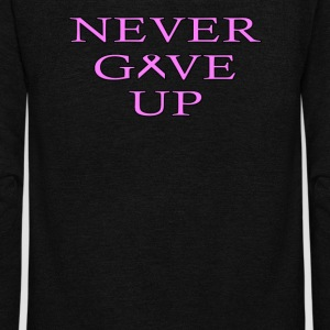 Never Give UP BC - Unisex Fleece Zip Hoodie by American Apparel